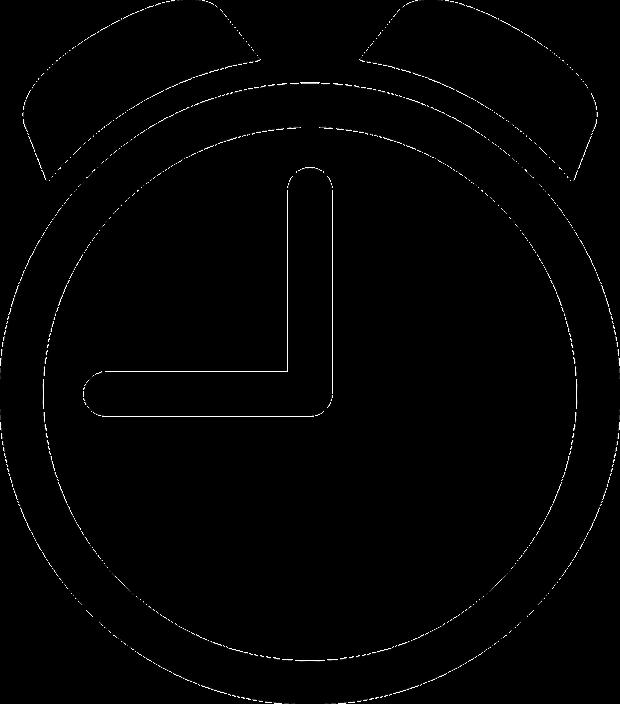 alarm clock icon-black on white