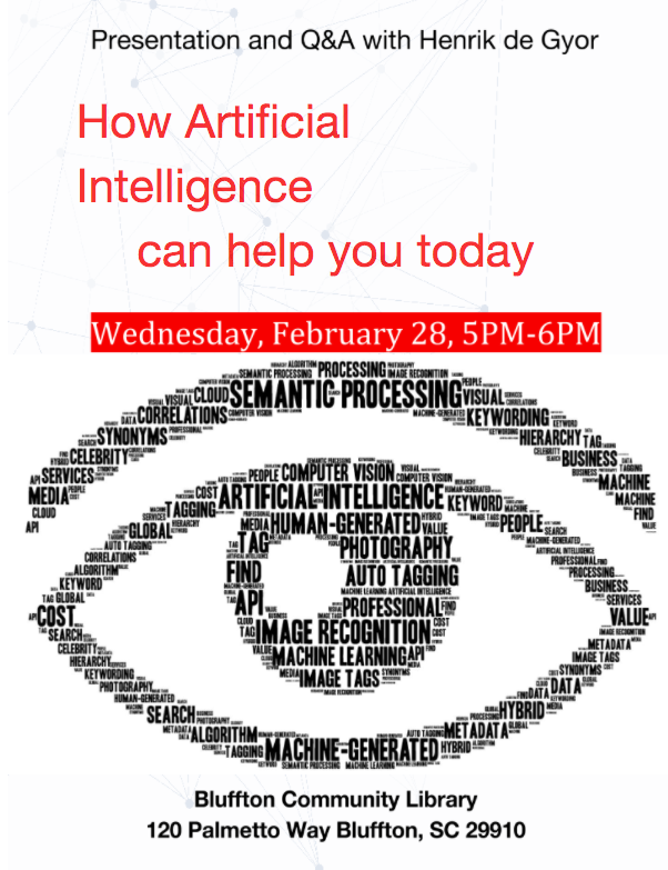 tech lecture AI poster